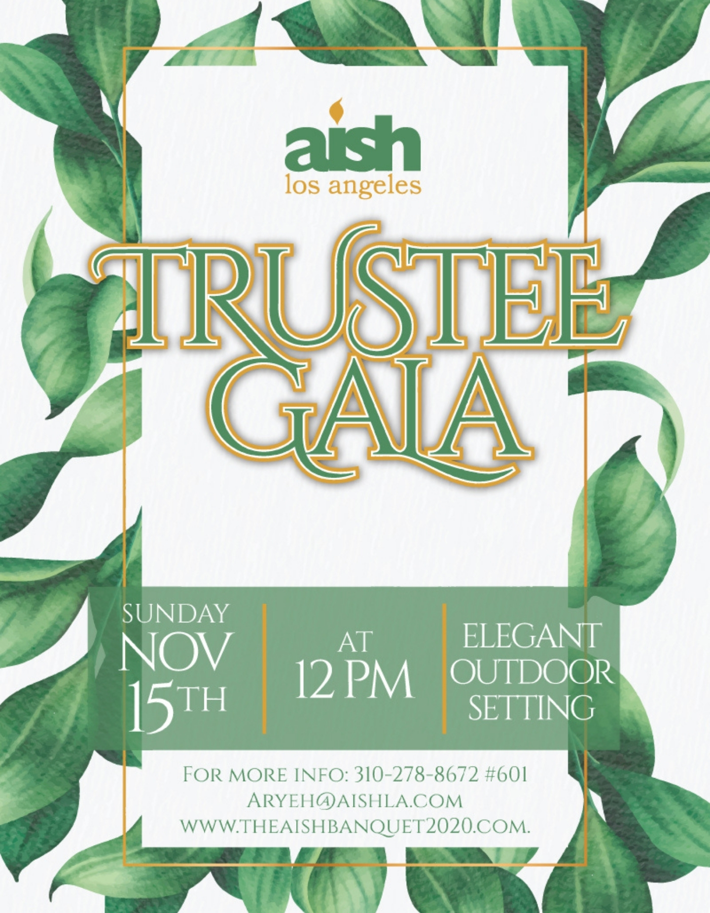 The Aish Banquet Invite - Trimmed